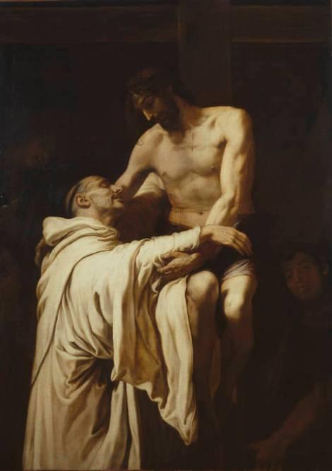 Cristo abrazando a Bernardo