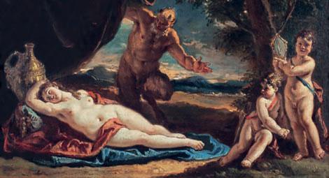 Venus sátiro y dos amorcillos