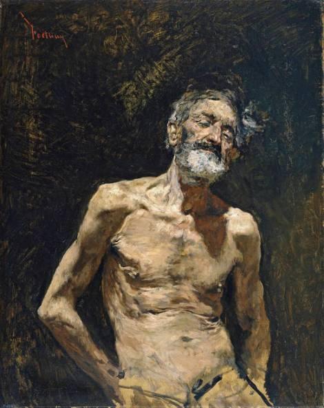 Viejo desnudo al sol