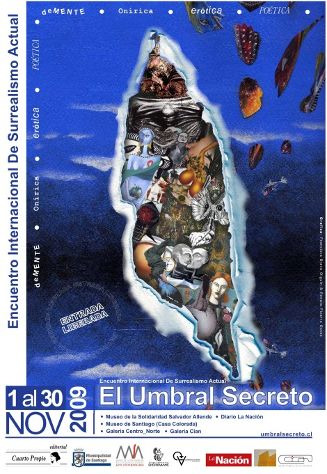 Cartel surrealismo en santiago