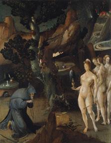 Las tentaciones de san Antono. Jan Wellens de Cock 1520