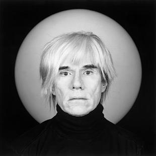 Andy Warhol fotografiado por Mapplethorpe, 1986