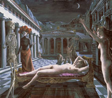 Venus dormida. Paul Delvaux 1944