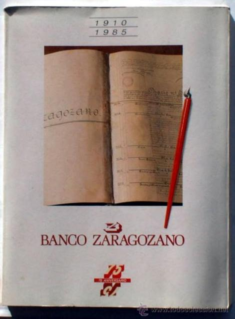 libro 75 aniversario del Banco Zaragozano