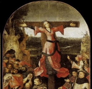 triptico del martirio de santa wilgefortis